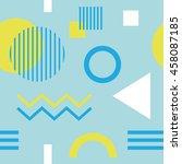 geometric figures seamless...   Shutterstock .eps vector #458087185