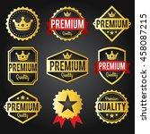 golden commerce labels badges... | Shutterstock .eps vector #458087215