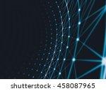 futuristic technology art... | Shutterstock . vector #458087965