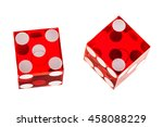 two red transparent dice...