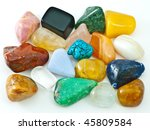collection of colorful polished ... | Shutterstock . vector #45809584