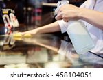 maid service cleaning glass... | Shutterstock . vector #458104051