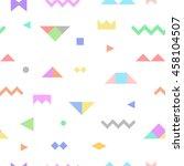 geometric tribal seamless... | Shutterstock .eps vector #458104507