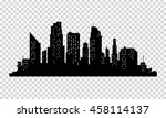 vector city silhouette with... | Shutterstock .eps vector #458114137
