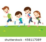 Cute Family Runing Together.da...