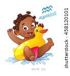 zodiac sign aquarius. african... | Shutterstock .eps vector #458120101