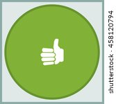 thumb up icon. | Shutterstock .eps vector #458120794