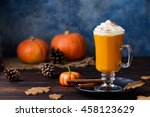 pumpkin spice latte  smoothie... | Shutterstock . vector #458123629