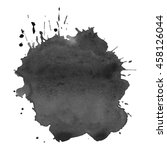 abstract watercolor grayscale... | Shutterstock .eps vector #458126044