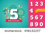 anniversary fireworks and... | Shutterstock .eps vector #458132257