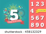 anniversary fireworks and... | Shutterstock .eps vector #458132329