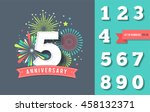 anniversary fireworks and... | Shutterstock .eps vector #458132371
