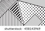 black and white pop art... | Shutterstock .eps vector #458143969