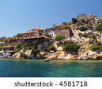 cottage on coast of small... | Shutterstock . vector #4581718