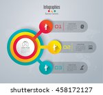 infographic design vector and... | Shutterstock .eps vector #458172127
