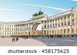russia. saint petersburg.... | Shutterstock .eps vector #458175625