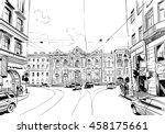 russia. saint petersburg.... | Shutterstock .eps vector #458175661
