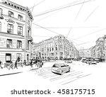 russia. saint petersburg.... | Shutterstock .eps vector #458175715