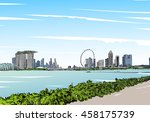singapore. singapore flyer.... | Shutterstock .eps vector #458175739