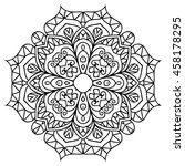 mandala for painting. vector... | Shutterstock .eps vector #458178295