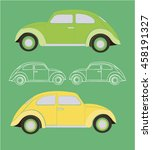 children's cars | Shutterstock .eps vector #458191327