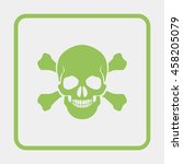 skull and crossbones   a mark... | Shutterstock .eps vector #458205079