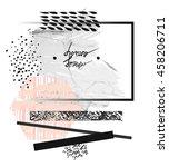 hand drawn vector modern card... | Shutterstock .eps vector #458206711