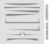 transparent realistic paper... | Shutterstock . vector #458209414