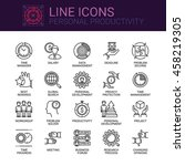 simple icons set of personal... | Shutterstock .eps vector #458219305
