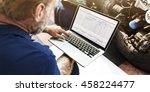 garage automotive tuning... | Shutterstock . vector #458224477