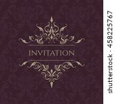 wedding invitation. classic... | Shutterstock .eps vector #458225767