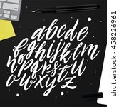 vector set with hand written... | Shutterstock .eps vector #458226961