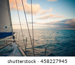 yacht on the altantic ocean | Shutterstock . vector #458227945