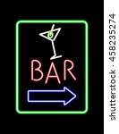 vintage electric signboard bar  ...   Shutterstock .eps vector #458235274