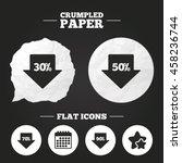 crumpled paper speech bubble....   Shutterstock .eps vector #458236744