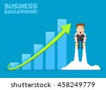 happy businessman or manager... | Shutterstock .eps vector #458249779