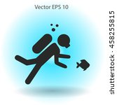 diver vector illustration | Shutterstock .eps vector #458255815