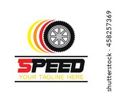 speed and fast logo template ... | Shutterstock .eps vector #458257369