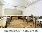 interior of a restaurant in... | Shutterstock . vector #458257555