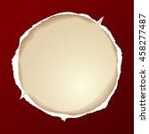 ripped paper round  vector art... | Shutterstock .eps vector #458277487