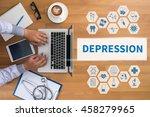 depression professional doctor... | Shutterstock . vector #458279965