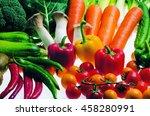 fresh colorful vegetables | Shutterstock . vector #458280991