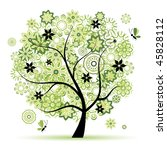 floral tree beautiful   Shutterstock .eps vector #45828112