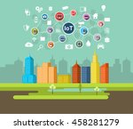 internet of things technology.  | Shutterstock .eps vector #458281279