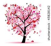 Valentine Tree  Love  Leaf Fro...