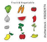 vegetable icons set cartoon... | Shutterstock .eps vector #458282974