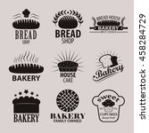 set of bakery or cakery and... | Shutterstock .eps vector #458284729