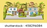 illustration of two modern... | Shutterstock .eps vector #458296084