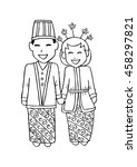 bridal couple java. cartoon... | Shutterstock .eps vector #458297821