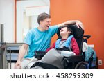 Father Talking With Disabled...